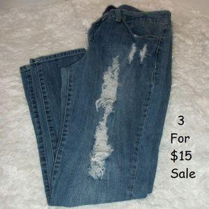 #Miley Cyrus Max Azria Jeans Size 17 Distressed
